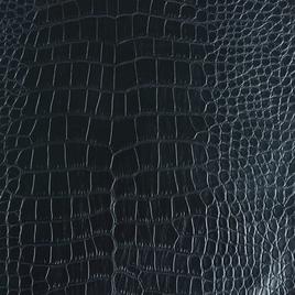 Кожзам В 3701 черный крокодил