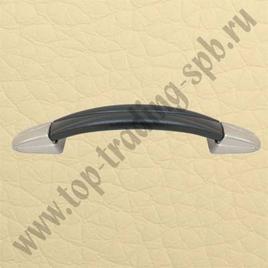 Ручка 115А черный + мат/никель