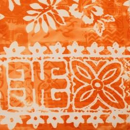 Дизайн 300Д ПВХ № 41 (К) белые листья на оранжевом