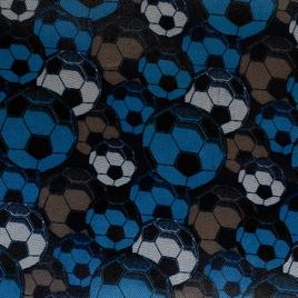 Дизайн 420Д ПВХ 89149-4 футб. мячи голуб/сер/коричн (Ф)
