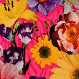 Дизайн 300Д ПВХ № 4608 цветы на розовом