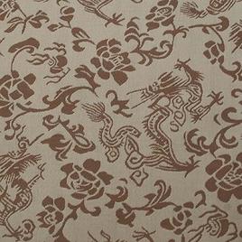 Материал  SPONGE PVC 1931 дракон беж-корич.