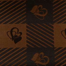 Материал  SPONGE PVC 3228 корич.квадраты с сердцем СК