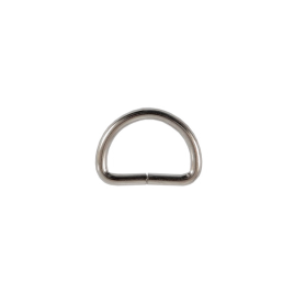 Полукольцо 15х10 мм (2,2мм) никель роллинг