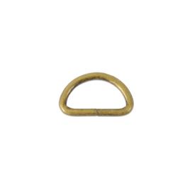Полукольцо 15х7,5мм (2мм) антик роллинг