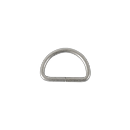 Полукольцо 20х12,3 мм (2,4мм) мат/никель роллинг