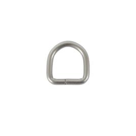 Полукольцо 20мм х21мм (4мм) мат/никель