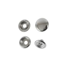 Кнопка галант 15мм кольцевая (нога 6мм) никель роллинг