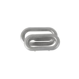 Люверс овальный 19мм мат никель роллинг