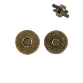Магн,кнопка 14мм антик плоская