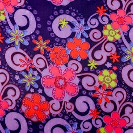 Дизайн 210Д ПВХ 2000-1 риб-стоп цветы, завитки на сирен