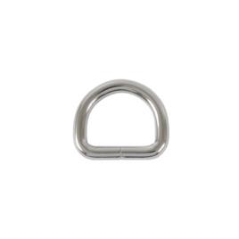 Полукольцо 20х15мм (4мм) никель роллинг