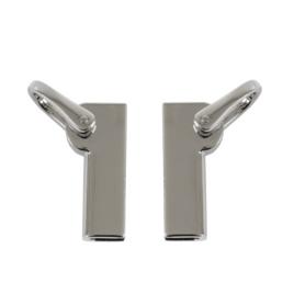 Ручкодержатель КМ 2031 пара (7388) никель полир