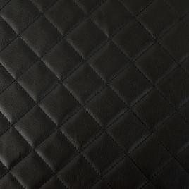 Кожзам PU с поролоном Embroidery Cell (клетка) 30*30 black