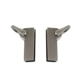 Ручкодержатель КМ 2031 пара (D 082 / 7388) мат никель выс кач+лак