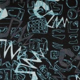Дизайн 500х300Д ПВХ CSB 4383 сер-голуб графити