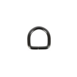 Полукольцо 20мм х21мм (4мм) блек никель роллинг