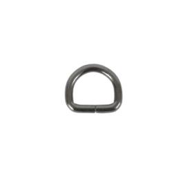 Полукольцо 20х15мм (4мм) блек никель роллинг