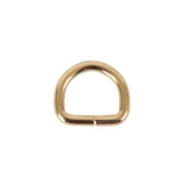 Полукольцо 20х15мм (4мм) светлое золото роллинг