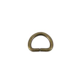 Полукольцо 10х7,5мм (2мм) антик роллинг