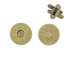 Магн,кнопка №12 18мм плоская антик роллинг