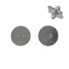 Магн,кнопка №12 18мм плоская никель роллинг В