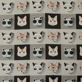 Брезент 2*2 W/R YH 1679-1 коты в очках