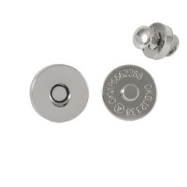 Магн,кнопка 18мм+холн никель полир