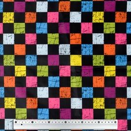 Дизайн 210Д ПВХ 6084 цветные квадраты