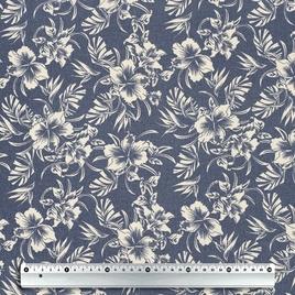 Брезент 2*2 W/R YH 938 бел цветы на джинсе