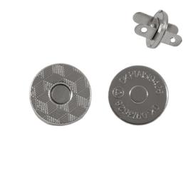 Магн,кнопка 14мм никель роллинг плоская Y