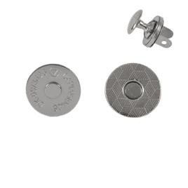 Магн,кнопка 14мм плоская+холн d=12мм никель L