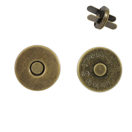 Магн,кнопка 14мм плоская антик роллинг L