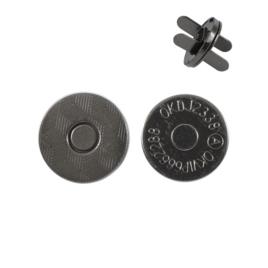 Магн,кнопка 14мм плоская блек никель роллинг L