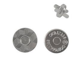 Магн,кнопка 14мм плоская никель роллинг L