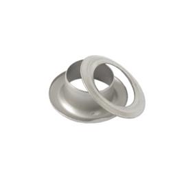 Люверс d=8мм круглый 8/13,8 мм  мат никель роллинг D