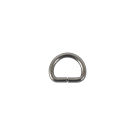Полукольцо 10х7,5мм (2мм) блек никель роллинг D