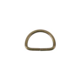 Полукольцо 20х12,3 мм (2,4мм) антик роллинг D